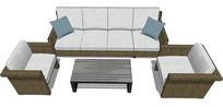 客厅沙发桌子
