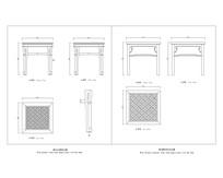 明清藤面方凳CAD图 dwg