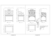 清代紫檀扶手椅CAD图 dwg