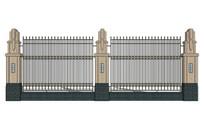 住宅区隔离围墙模型