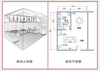 厨房平面图 CDR