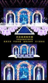 高端婚礼舞台背景 PSD