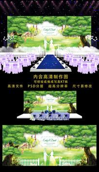 高端婚庆舞台背景