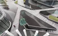 广场创意三角式水景意向图  JPG