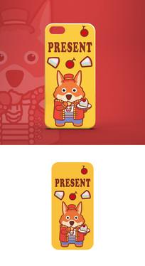 卡通狐狸形象简约时尚手机壳