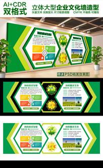 绿色大气现代公司文化墙