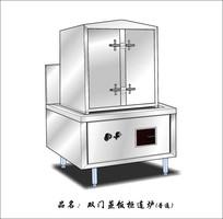 普通炉双门蒸饭柜连炉