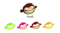 小猴形象水果零售品牌logo