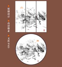 新中式抽象水墨画