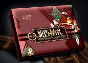 雅香情平面分层月饼盒 PSD