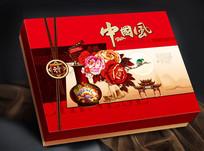 中国风平面分层月饼盒