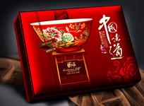 中国味道平面分层月饼盒 PSD