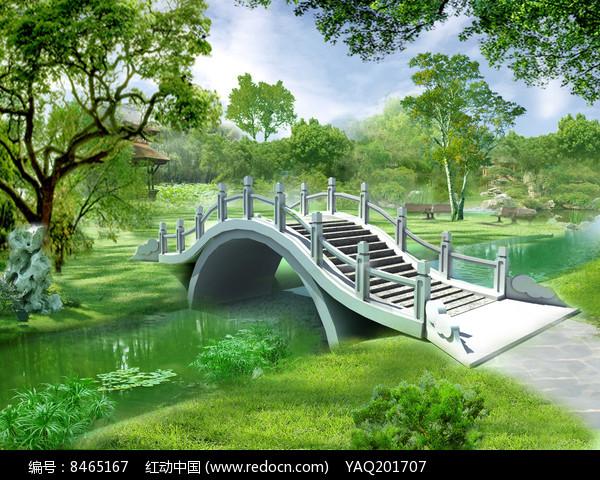 中式拱桥图片