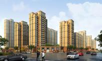 城市住宅建筑群渲染效果图 JPG