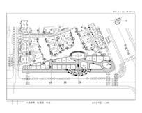 大型高档综合住宅区商业平面