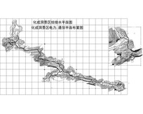 化成洞景区给排水平面图