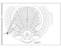 中心圆形广场LED平面布置图