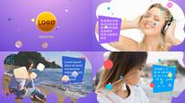 时尚彩色卡通气泡相册宣传片