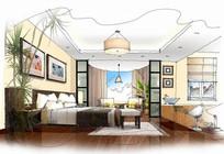 卧室设计快速表现