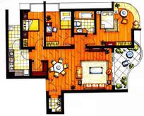 住宅室内设计彩平