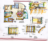 住宅室内设计草图