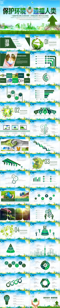 保护环境保护地球PPT课件