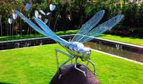 不锈钢蜻蜓雕塑小品