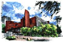 彩色建筑手绘 JPG