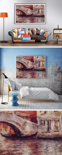 抽象油画桥装饰画 JPG