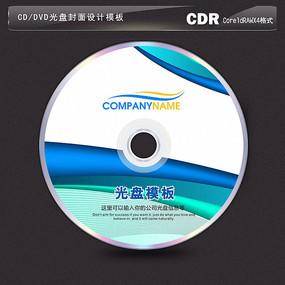 动感蓝色背景光盘设计模板 CDR