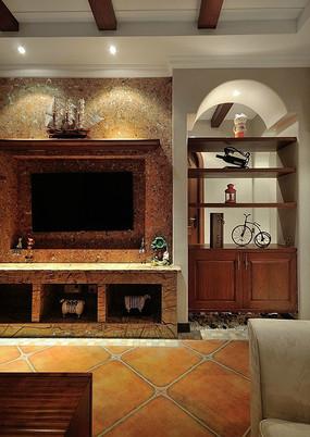 度假别墅电视背景墙装饰