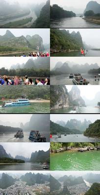 广西桂林漓江风景 mov