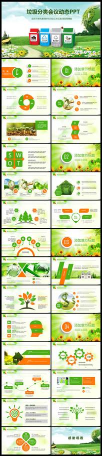 环境垃圾分类低碳环保局PPT