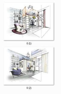 简约风格室内设计效果表现