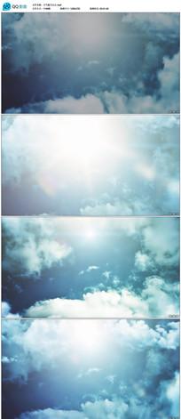 蓝天白云云层穿梭视频素材
