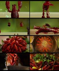 美食炒龙虾视频素材 mp4