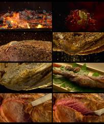 美食烧烤羊腿视频素材 mp4