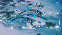 区域核心科技感定位地图