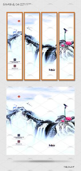 水墨中国风挂画设计 PSD