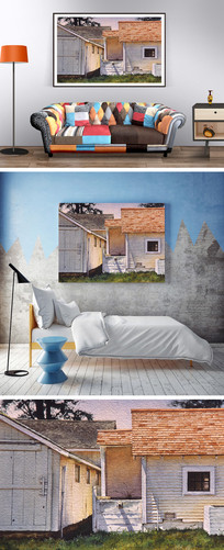 油画房屋装饰画
