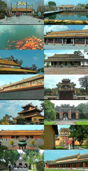 越南旅游风光古城建筑遗址