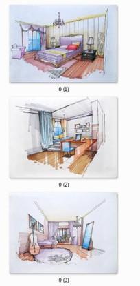 住宅室内设计手绘效果图