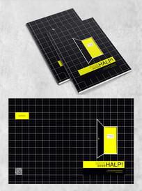 黑色方格个性封面设计