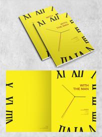 黄色时钟创意封面设计