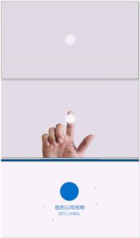 简洁企业触屏片头logo演绎