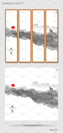 简约时尚中国风海报挂画设计