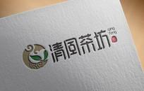 简约特产茶叶logo  AI