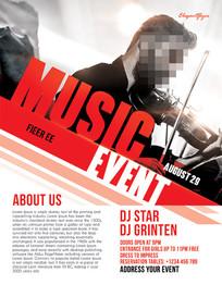 欧美国外音乐人物演出海报设计