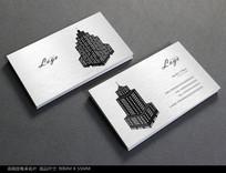 手绘建筑名片设计 PSD