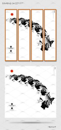 水墨中国风创意海报挂画设计